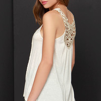 Black Swan Eco Light Beige Lace Top