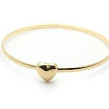 heart bracelet, jewlery, minimal jewelery, simple jewelery, heart, bangle