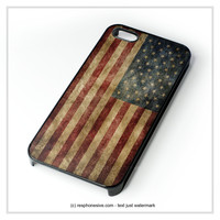 Vintage American Flag iPhone 4 4S 5 5S 5C 6 6 Plus , iPod 4 5 , Samsung Galaxy S3 S4 S5 Note 3 Note 4 , HTC One X M7 M8 Case