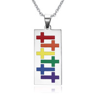 Colorful Rainbow Necklace Tag