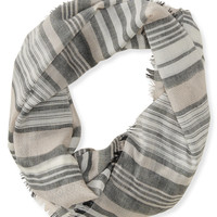 Aeropostale  Frayed Stripe Infinity Scarf - Black, One