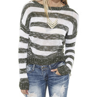 Stripe Pullover Sweater | Shop Tops at Wet Seal