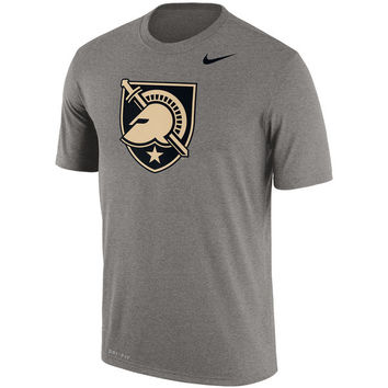 Men's Nike Gray Army Black Knights Legend School Logo Performance T-Shirt