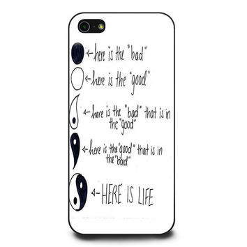 Yin Yang Here Is Life iPhone 5 | 5s Case