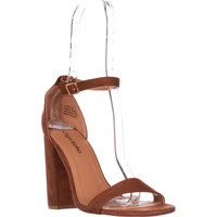 Zigi Soho Loise Ankle Strap Block Heel Sandals, Tan, 8.5 US