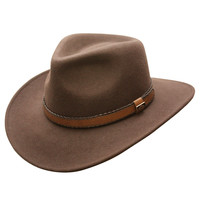 Outback Creek Wool Crushable Hat (Brown)