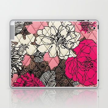 Vera Bradley - Pink and Brown Floral Laptop & iPad Skin by PinkBerryPatterns