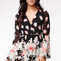 Reverse Falling in Floral Romper - Womens Dress - Floral