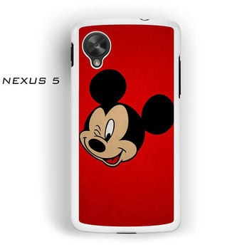 Mickey Mouse Red Background Wallpaper for Nexus 4/Nexus 5 phonecases