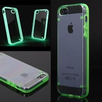 Leegoal(TM) Luminous Style Glowing Hard Bumper Skin Back Case Cover For iPhone 5 5G 5th Green