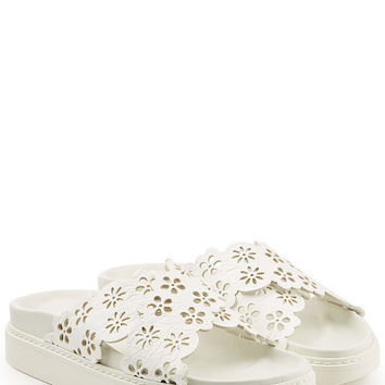 Perforated Leather Sandals - Simone Rocha | WOMEN | US STYLEBOP.COM