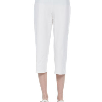 Women's Slim Crepe Capri Pants, Petite - Eileen Fisher