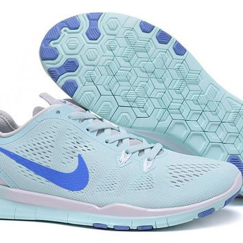 Women's Training Shoes: Nike Free TR FIT 5 Brthe Jade/Military Blue