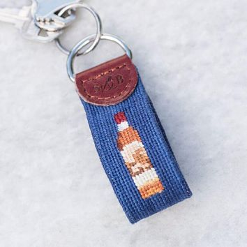 Pappy Bottle Needlepoint Key Fob by Pappy & Company