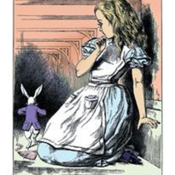 Alice in Wonderland: Alice Watches the White Rabbit: Fine art canvas print (12 x 18)