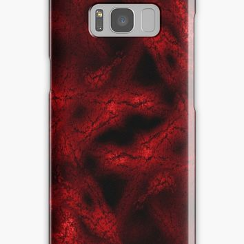 'Red fantasy pattern' Samsung Galaxy Case/Skin by steveball