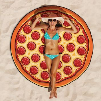 Giant Pepperoni Pizza Beach Blanket