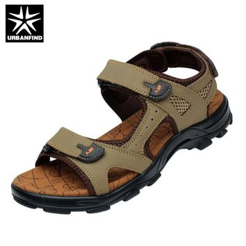 URBANFIND New Arrival Men Summer Fashion Sandals EU Size 38-44 Leisure Style Man Casual Beach Shoes