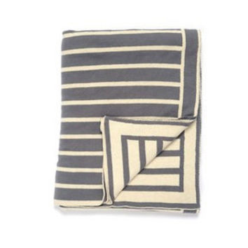 Beach Stripes Cotton Throw Blanket