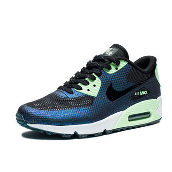 NIKE WOMEN S AIR MAX 90 HYPERFUSE WC QS - BLACK VAPOR GREEN TEAL  d68e96021b