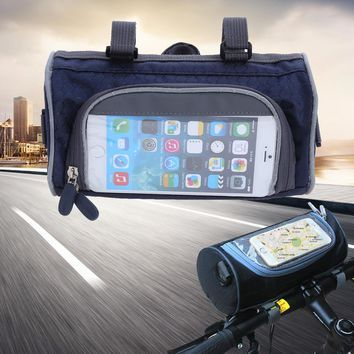 21*12*12cm Mini Waterproof MTB Bicycle Bags Touch Screen Bike Top Tube Front Bags Phone Case Cycling Pannier Bike Accesories