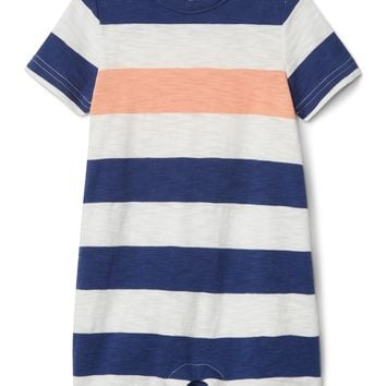Stripe Shorty One-Piece|gap
