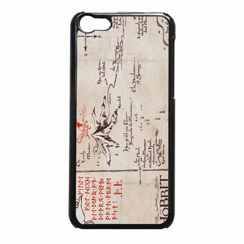The Hobbit Lonely Mountain Map 972981ff-abb2-49ec-b9bd-4c3dd7ed328a FOR iPhone 5C CASE *NP*