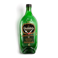 Glenfiddish Scotch whisky recycled bottle clock - Recycled Glenfiddish melted bottle clock - Christmas Gift for him