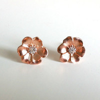 Rose Gold Flower Blossoms