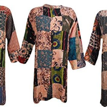 Wholesale Lot Of 3 Womens Bohemian Tunic Top Button Down Patchwork Festival Goddess Indian Blouse Shirt