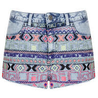 MOTO Acid Aztec Hotpant - Shorts  - Clothing