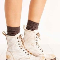 Ecote Ranger Leather Lace-Up Boot- White