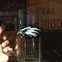 NFL Football Team Philadelphia Eagles Wine Glass with Bow