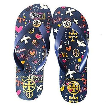 DCCKG2C Tory Burch Flip Flops Shoes Sandals Flat Rubber New