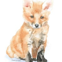 Baby Fox Watercolor
