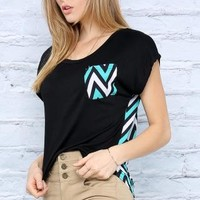 Colorblock Pattern Top