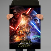 Poster Print Star Wars The Force Awakens Wall Decor Canvas Print - halawatani.com