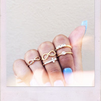 Infinite Believer Ring Set- Gold