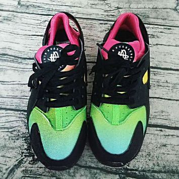 New Nike Air Huarache Women Men Running Shoes Rainbow Ultra Breathe Shoes Multicolor Sneakers Air Size 36-46