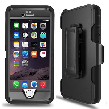 iPhone 6 Plus Case, iPhone 6s Plus Case Ptuna Defender 4 in 1 Shock Absorbent Drop proof Built-in Screen Protector Rugged Rubber Case Cover For iPhone 6 Plus/6S Plus