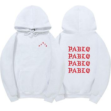 2017 Brand I FEEL LIKE Paul Pablo west trasher men Hoodie Sweatshirts High quality I FEEL LIKE Pablo Hoodies & Sweatshirts
