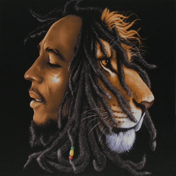 Bob Marley - Lion Head Small Canvas Print