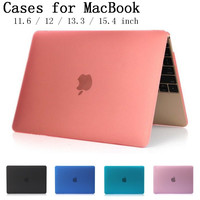 Crystal/Matte cover for Apple Macbook Air Pro Retina 11.6 12 13.3 15.4 inch laptop Cases For Macbook