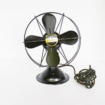 Vintage Metal Electric Fan, Peerless Desk Fan, Working Fan