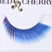 Blue Thick Full Glamour Human Hair Eyelashes
