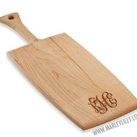Monogrammed Wood Cutting Board | Personalized Kitchen | Marley Lilly