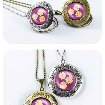 My little pony Cherriliee cutie mark MLP vintage pendant locket necklace - ready for gifting - buy 3 get 4th one free