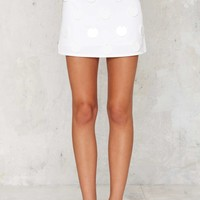 House of Cards Tara Acrylic Trim Mini Skirt