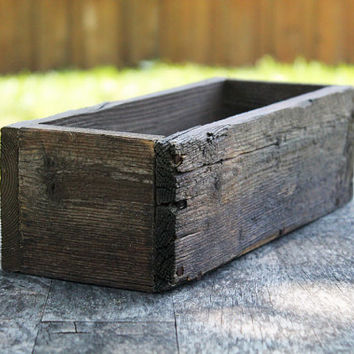"12"" Rustic Planters Box (Short Version), Garden Box, Storage, Wooden Box, Herb Box, Primitive Box, Shabby Chic Box, Succulent Box, Farm Box"