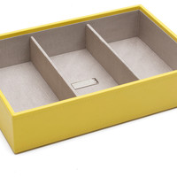 Deep Stack Jewelry Tray, Yellow, Medium, Jewelry Holders & Displays